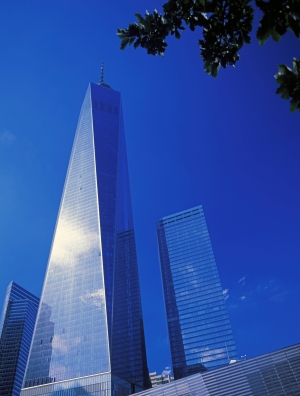A glass tower such as One World Trade in New York City would be ideal for products such as SolarWindows.