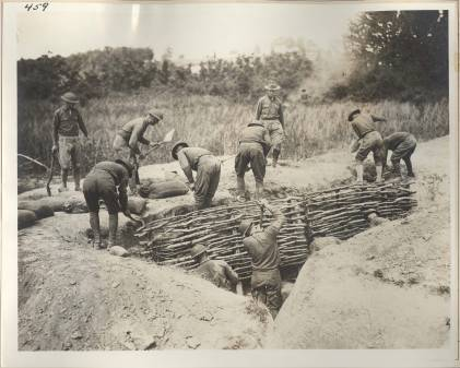 1st_engineers_build_a_trench_revetment_in_france